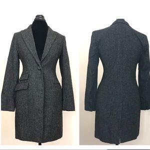 LRL Long Wool Blazer Jacket